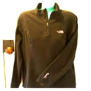 The North Face breast cancer ribbon fleece pullove